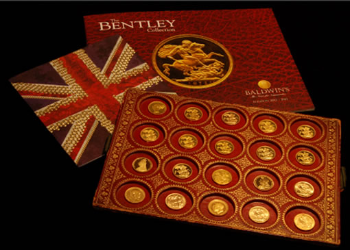 Part of the Bentley Collection of British Gold Sovereigns