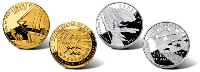 Proof Gold and Silver 2012 Star-Spangled Banner Commemorative Coins