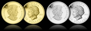 Queen Elizabeth II Ultra-High Relief Gold and Silver Proof Coins