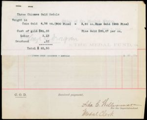 U.S. Mint receipt dated March 2, 1921