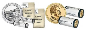 US Mint Chaco Culture Quarter and Chester Arthur Dollar Coin Products