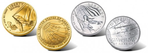 Uncirculated Gold and Silver 2012 Star-Spangled Banner Commemorative Coins
