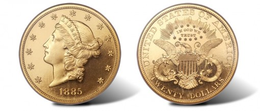 1885 proof Liberty double eagle
