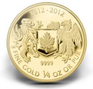 2012 $10 War of 1812 Gold Coin