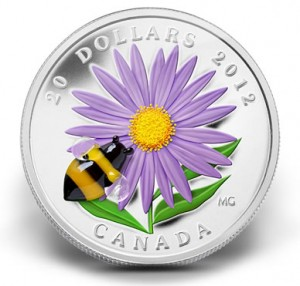 2012 $20 Aster with Venetian Glass Bumble Bee Silver Coin