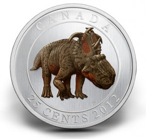 2012 25-Cent Pachyrhinosaurus Lakustai Glow-In-The-Dark Coin