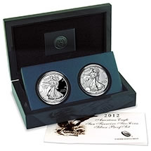 2012 American Silver Eagle San Francisco Two-Coin Proof Set