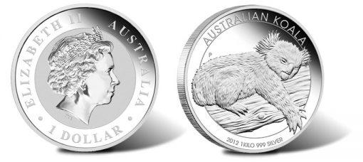 2012 Australian Koala 1 Kilo Silver Proof Coin