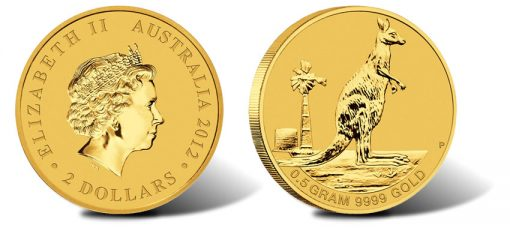 2012 Australian Mini Roo Gold Coin