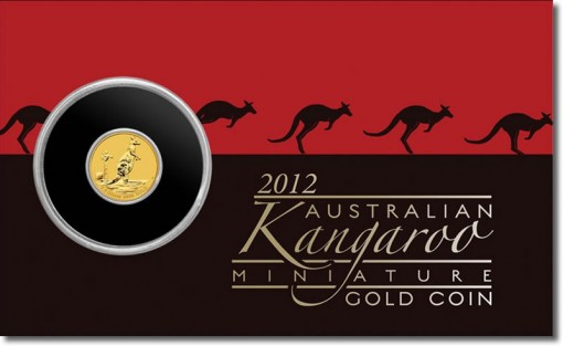2012 Australian Mini Roo Gold Coin in Protective Card