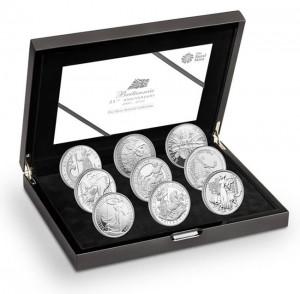 2012 Britannia 9 Coin Half Ounce Silver Set