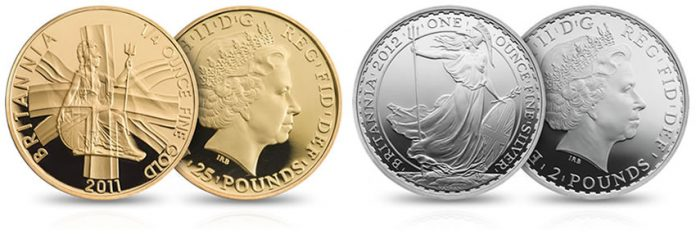 2012 Britannia Gold and Silver Proof Coins