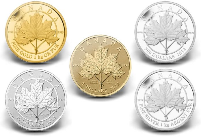 2012 Maple Leaf Forever Coins
