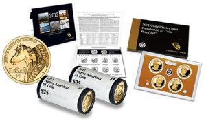 2012 Native American Dollars, Quarters Set, and $1 Proof Set