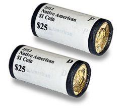 2012 P&D $1 Coin Rolls