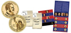 2012 Presidential $1 Coin Bags and Uncirculated Coin Set