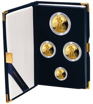 2012-W Proof American Gold Eagle Four-Coin Set