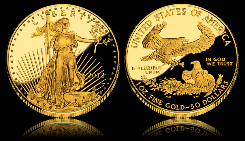 2017 W 50 Proof American Gold Eagle Coin