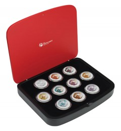 2012 Year of the Dragon Silver Coin Set