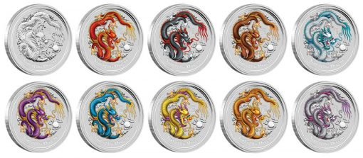 2012 Year of the Dragon Silver Coins