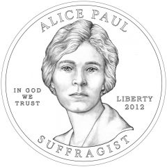 Alice Paul and the Suffrage Movement Gold Coin Obverse Design