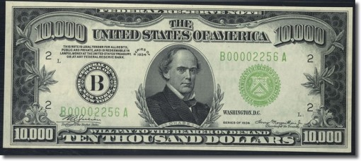 Fr. 2231-B $10000 1934 Federal Reserve Note