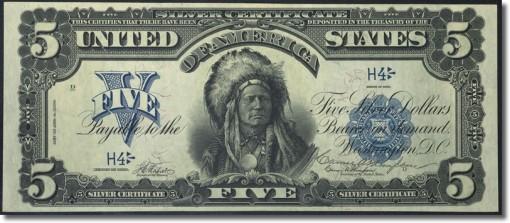 Fr. 276 $5 1899 Silver Certificate