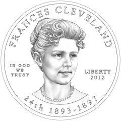 Frances Cleveland (Second Term) First Spouse Gold Coin Obverse Design