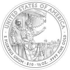 Frances Cleveland (Second Term) First Spouse Gold Coin Reverse Design
