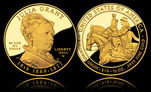 Julia Grant First Spouse Gold Coin - Proof