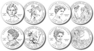 Line Art Designs of 2012 First Spouse Gold Coins