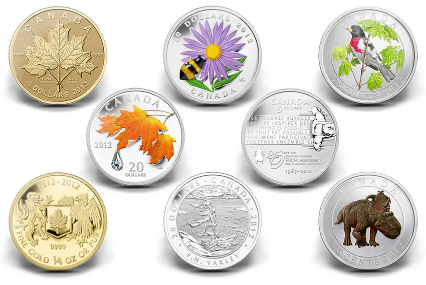 Canadian 2012 Collector Coins Celebrate Nature Art And