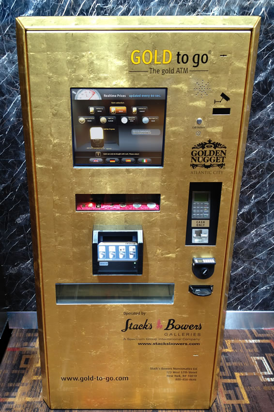 Gold To Go : stack 39 s bowers gold to go atm machine debuts at golden nugget casino coin news ~ Orissabook.com Haus und Dekorationen