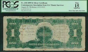 Titanic survivor's $1 bill