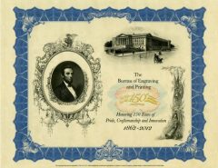 150th Anniversary Lincoln Intaglio Print
