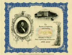150th Anniversary Lincoln Intaglio Print