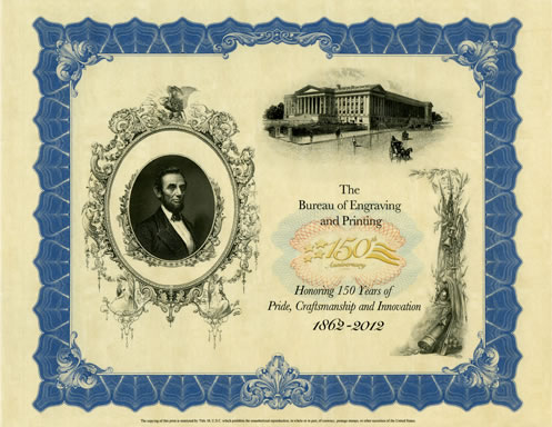 150th Anniversary Lincoln Intaglio Print Released by BEP | Coin News