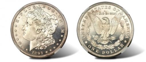 1895 PR66 Cameo Morgan Dollar