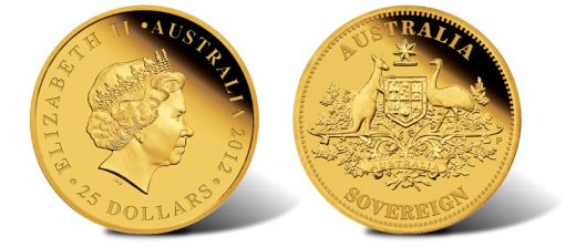 2012 Proof Australian Gold Sovereign Coin