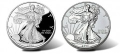 2012-S Proof and 2012-S Reverse Proof American Silver Eagle Coins