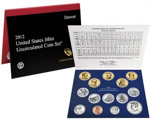 2012 U.S. Mint Uncirculated Coin Set