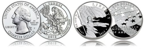 El Yunque Silver Coin and Star-Spangled Banner Silver Dollar