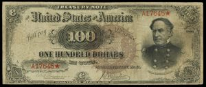 Fr.377 1890 $100 Treasury Note Obverse