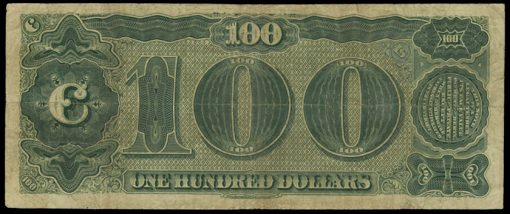 Fr.377 1890 $100 Treasury Note Reverse