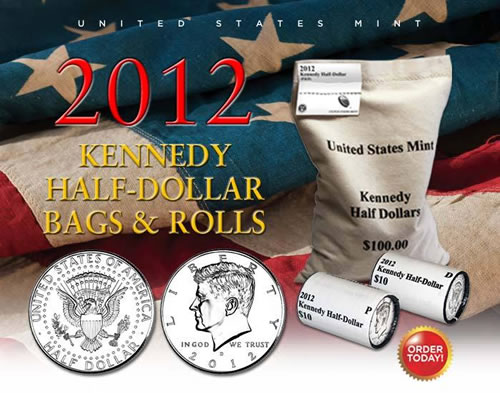 Kennedy Half Dollar Rolls and Bags