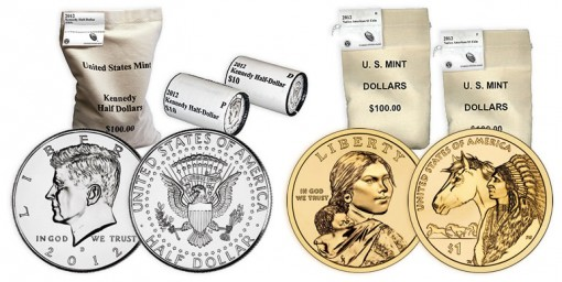 Kennedy Halves and Native American $1 Coin Products
