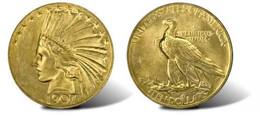 Rolled Edge 1907 Eagle