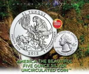 US Mint Promotion of El Yunque National Forest 5 Oz Silver Uncirculated Coin