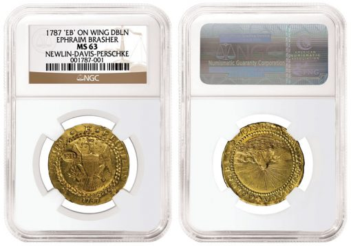 1787 Brasher Doubloon Coin
