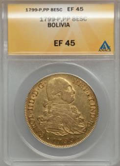 1799-P Bolivia World Coin